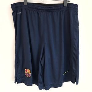Men's Nike Athletic Shorts w/ Barcelona FCB Patch